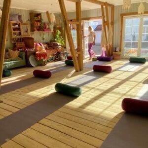 Yogamatter på Yogagården